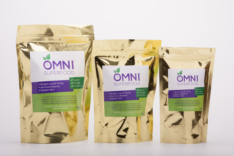 The three sizes of OMNI Superfood for Women: Large, Small, and Trial