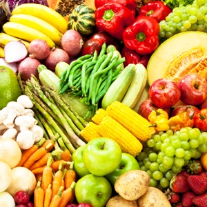 Vegans eat lots of fruit and vegetables